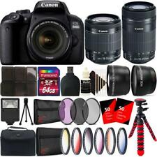 Canon EOS 800D 24.2MP DSLR Camera with 18-55mm and 55-250mm Lens Accessory Kit