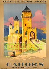 Cahors - Pont Valentré  - Tourisme PLM & Cies- affiche plastifiée