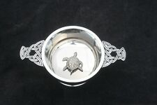 Turtle Quaich Scottish Drinking Bowl Pewter Stainless Steel Christening Gift 381