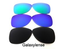 Galaxy Replacement Lenses For Oakley Crosshair S Sunglasses Black&Blue&Green