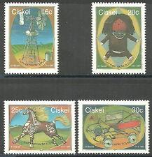 Ciskei - Selbstgefertigtes Spielzeug Satz postfrisch 1987 Mi. 119-122