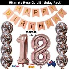 18th Rose Gold Birthday Pack 18 Eighteen Garland Balloons Decorations Party