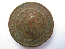 Netherlands 1886 bronze 1/2 Cent GF with edge knocks