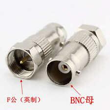 2 Pcs Bnc Female to F type Male Rf Coax Connector Adapter Cctv Rg6 Rg59 M762