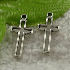 free ship 380 pcs tibet silver cross charms 23x11mm #4206