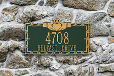 Claddagh Personalized Address Plaque