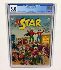 ALL-STAR COMICS #54 CGC 5.0  (Flash, Wonder Woman, Green Lantern) 1950 DC Comics