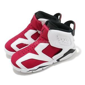 Nike Jordan 6 Retro Little Flex TD VI Carmine White Toddler Infant CT4417-106