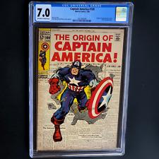CAPTAIN AMERICA #109 (1969) 💥 CGC 7.0 OW-W PGs 💥 ORIGIN RETOLD! NICK FURY APP