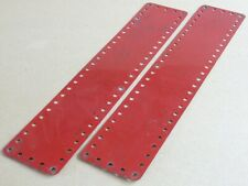 Meccano Strip Plates 5 x 25 Holes Mid Red Part 197