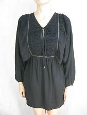 Lucette Size 4 6 Black Silk Casual Dress