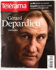 Télérama 21/02/2009; Gérard Depardieu/ LA BD au Louvre/ Pierre Péan/ Karmitz