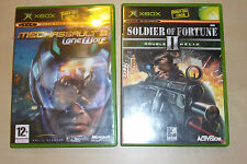 2 ORIGINAL XBOX GAMES SOLDIER OF FORTUNE II DOUBLE HELIX MECHASSAULT 2 LONE WOLF