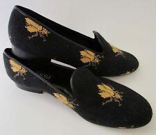 "Needlepoint Black & Gold ""Queen Bee"" Shoes/ Flats Vaneli 11.5 Narrow EUC"