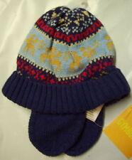 NWT Gymboree Colorful Village Fairisle Blue Reindeer Winter Hat Ear Flaps 3-6 mo