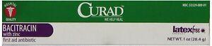 Curad Medline latex-free Bacitracin First Aid Anitbiotic 1 oz