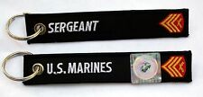 US MARINES SERGEANT KEYCHAIN PATCH ENLISTED RANK E-5 PROMOTION GIFT PIN UP WOW