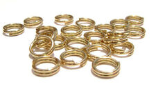 8040FD Gold plated Steel Split Double Ring Connector, 5mm 100 Qty