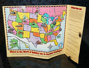 WHERE IN THE WORLD IS CARMEN SANDIEGO Holiday Inn SECRET FILE Game Kids Vintage