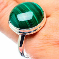 Large Malachite 925 Sterling Silver Ring Size 13.5 Ana Co Jewelry R27026F