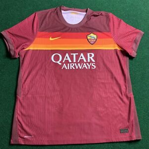 Nike 2020/2021 Roma Authentic Home Soccer Jersey CD4192-614 Men's Size 2XL