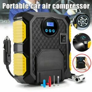 Turobayuusaku Air Compressor 12V Tire Inflator Toys Sports Car Auto Electric Pump Mini