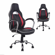 Executive Car Racing Office Chair PU Leather Swivel Computer Desk Seat