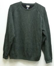Men's Vintage Tommy Bahama Knit Sweater Long Sleeve Size Large Green
