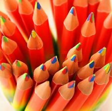 4in1 Rainbow Colors Pencil Wooden Made Artist Drawing Writing Sketching