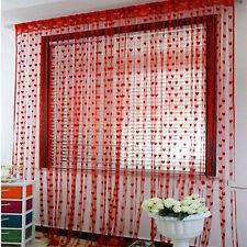 Red Cute Heart Line Tassel String Door Curtain Window Room Curtain Valance