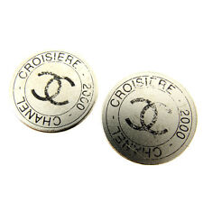 Chanel Earrings COCO Silver Woman Authentic Used Y1387