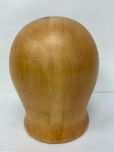 "Superb Wood Wooden Hat Block Head Style Form Display  Mold Millinery 21""inches"