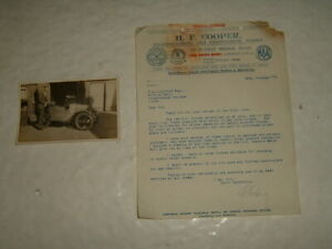 Postcard Austin Seven 1932 With Letter From H F Cooper Mounting MG On Chassis