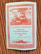 Orig 1939 US Navy Exhibit Golden Gate Int'l Exposition US Ships History Soft Bk