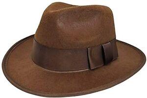 NEW Nightmare Explorer Fedora Hat Fancy Dress Adult