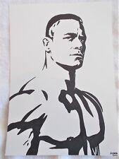 A4 Bolígrafo Marcador De Arte Dibujo luchador John Cena cartel en el pecho