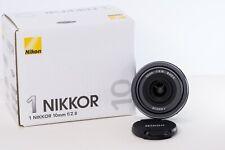 Nikon 1 Nikkor 10mm f/2.8 Prime Wide Angle Lens in Black for CX Mount US Model