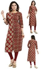 Women Indian Kurti Tunic Kurta Shirt Long Cotton Printed Ethnic Dress CP103
