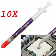 10x Heatsink Thermal Silicone Compound Paste Grease Syringe For PC CPU Processor