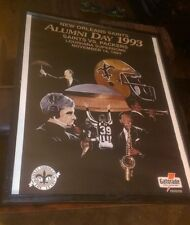 11/14/1993 NEW ORLEANS ALUMNI DAY POSTER VS. PACKERS GATORADE JIM MORA