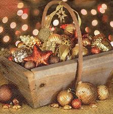 4 lose Servietten Motivservietten Decoupage Weihnachten Weihnachtskorb (1235)