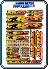 XRAY RC CAR BUGGY STICKER 1/10 1/8 NT1 T4 XB8 RX8 NITRO DRIFT ELECTRIC YEL/RED B