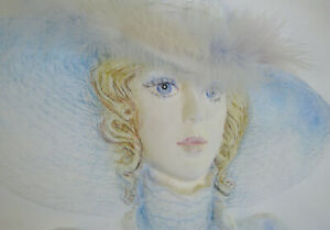 BEAUTIFUL VINTAGE 'MARY-ROSE' PAPER SCULPTURE YOUNG WOMAN, ARTIST MARY VICKERS