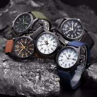 Outdoor Men Date Stainless Steel Military Sports Analog Quartz Army Wrist Watch