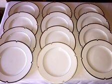 "12 MIKASA Fine China INVITATION PLATINUM - 10 7/8"" Dinner Plates ~ Excellent"