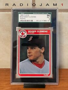 1985 FLEER ROGER CLEMENS  #155 ROOKIE RC RED SOX SGC 96