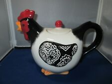 Cracker Barrel Store Ceramic Rooster Teapot Tea pot