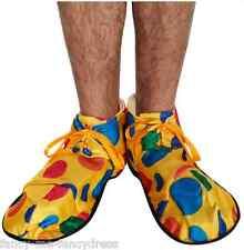 mujer hombre adulto multicolor Payaso Disfraz Circo Zapatos
