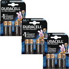 12 x Duracell Ultra Power AA Type Alkaline Batteries Duralock - LR6 MX1500, 1.5v