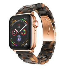 20MM Tortoise Shell Lines Resin Watch Band For Apple Watch Series 38mm/40mm
